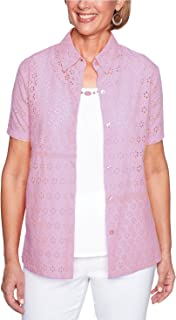 Women's Los Cabos Eyelet Two for One Woven Top
