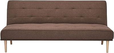 Marchio Amazon - Movian Scutari - Divano letto a 3 posti, 182 x 83 x 81 cm, colore caffè