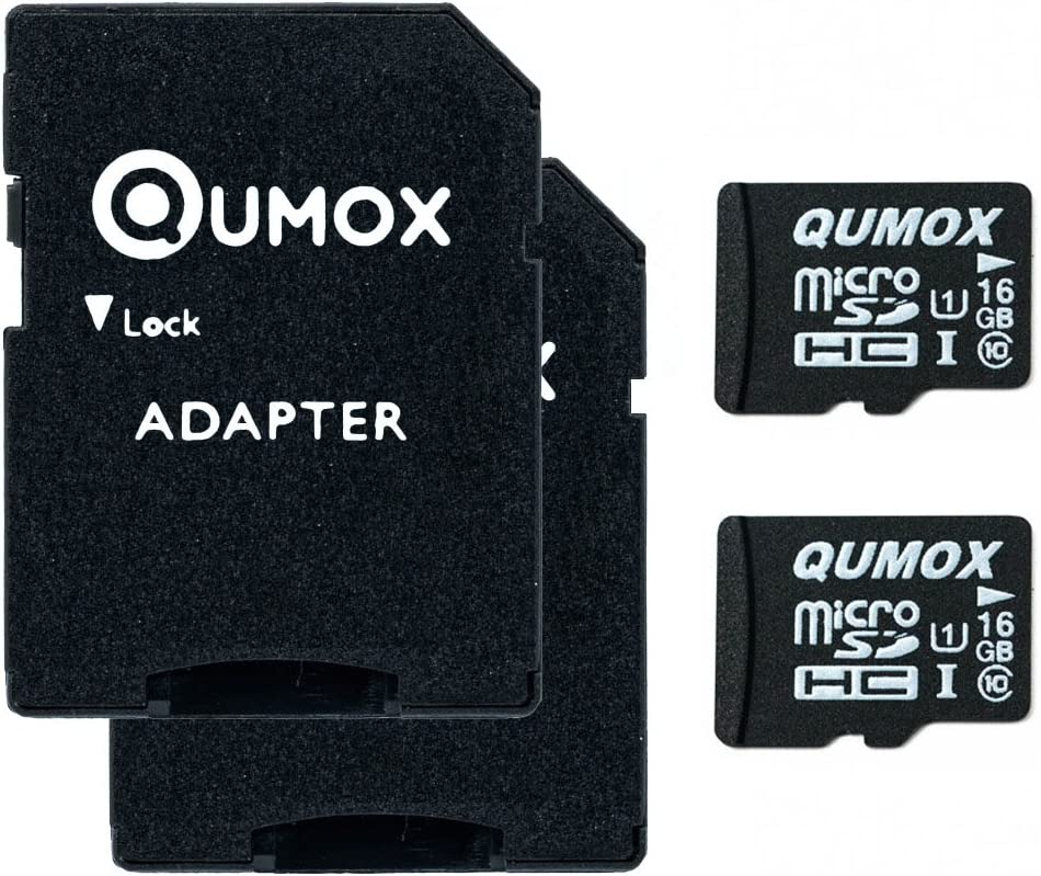 QUMOX 2X 16GB Micro SD Memory Card Class 10 UHS-I 16 GB HighSpeed Write Speed 12MB/S Read Speed Upto 70MB/S