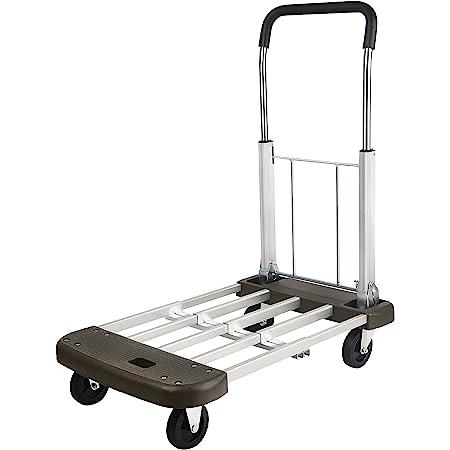 Foldable Push Cart Aluminum Alloy Platform Cart With Polyurethane Mute Wheel 330 Lb Capacity Home Improvement