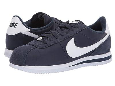 Nike Cortez Nylon (Obsidian/White/Metallic Silver) Men