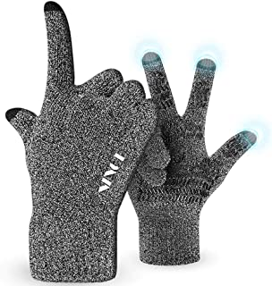 Ninge Winter Knit Gloves Cold Weather Gloves for Women Men - Knit Touch Screen Anti-Slip Silicone Gel - Stretchy Material...