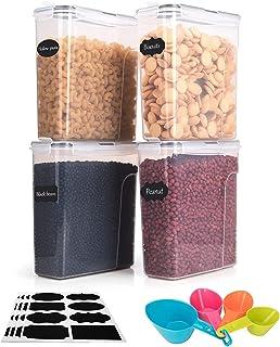 Boic Boites Alimentaires Hermétiques de 4 Paquets -4L Les Boîtes de Rangement de Cuisine Hermétiques en Plastique,Peuvent ...