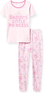 The Children's Place Baby And Toddler Girls Daddy's Princess Snug Fit Cotton Pajamas