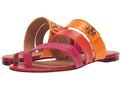 Tory Burch Kira Toe Ring Sandal (Dark Azalea Multi) Women