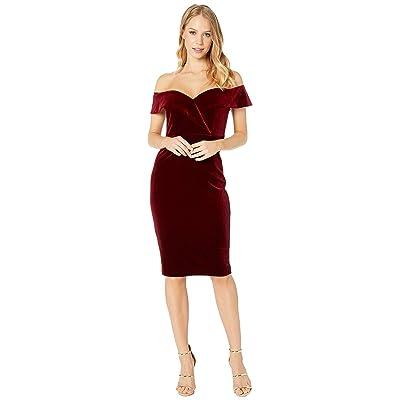 Bardot Bella Velvet Dress (Cabernet) Women