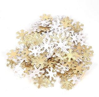 Jiawu Confettis de Flocon de Neige, Petits confettis de Flocon de Neige, Scintillant Attrayant pour la Maison de Noël