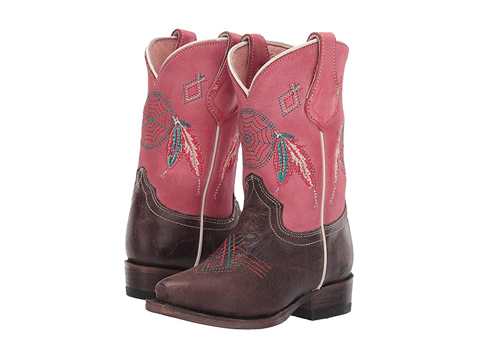 Roper Kids Snip Little Dreams (Toddler/Little Kid) (Brown Vamp/Dreamcatcher Shaft) Cowboy Boots