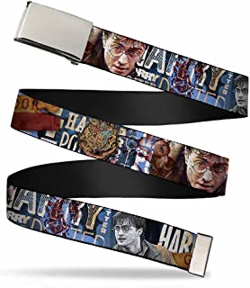 Buckle-Down Unisex-Adults Web Belt Harry Potter