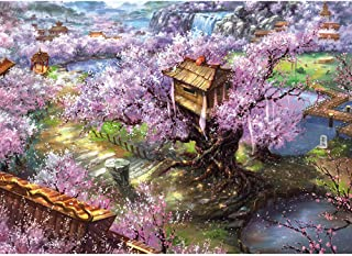 KWYZ 1000 Pieces Jigsaw Puzzles for Adults Kids - The Sakula Villa Jigsaw Puzzle Toy, Artwork Art Large Size (27.56 in x 19.69 in)