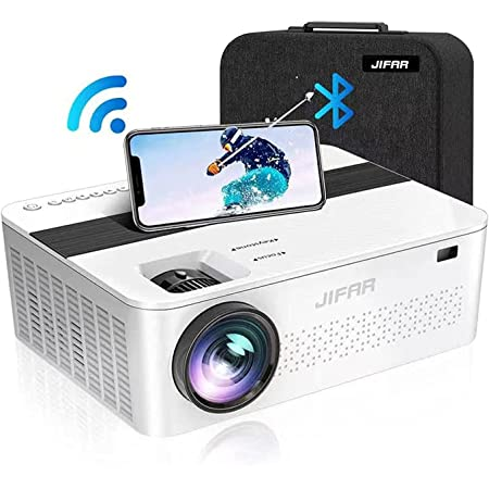 """5G WiFi Bluetooth Projector with 450"""" Display,9500 Lumens 4K Projector for Native 1080P Outdoor Movies,Support 4k,Dolby,Zoom,Keystone Correction,Projector Compatible w/ TV Stick, iOS, Android, PS5"""