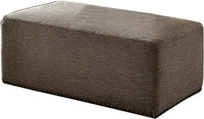 ACME Furniture storage ottoman, Gray Chenille