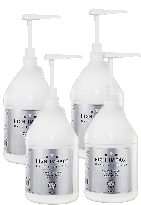 High Impact 値下げ Hand Sanitizer Gallons pump 送料無料 新品 w 4