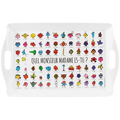Mr et Mme - Grand Plateau De Service Licence Monsieur Madame Panorama Collection Personnage 50,5 x 31,5 cm