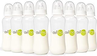 Avima 10 oz Anti Colic Baby Bottles, BPA Free, Standard Neck with Medium Flow Nipples (Set of 8)