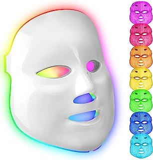 obqo 7 kleuren LED gezicht licht therapie masker rood blauw licht foton huid verjonging gezicht huidverzorging apparaat vo...