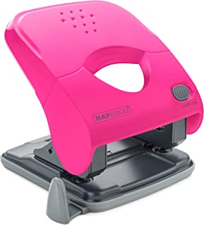 Rapesco X5-40ps Perforatrice 2 Trous 40 Feuilles - Effort Minimal - Hot Pink
