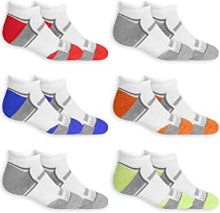 Fruit of the Loom Boys Everyday Active Cushioned Low Cut Tab Socks 6 Pair