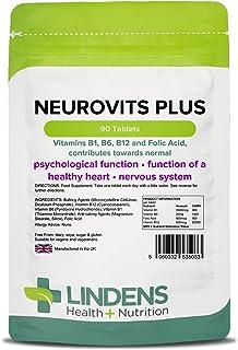 Lindens Neurovits Plus Pastillas Paquete 90GB fabricante apto para Veganos y VEGETARIANOS