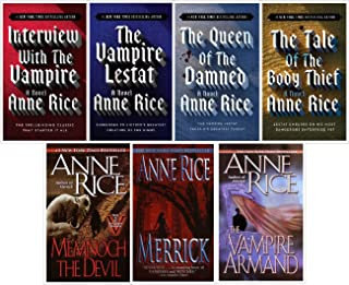 """Anne Rice 7 Book Set """"Interview with the Vampire"""" """"The Vampire Lestat"""" """"Queen of the Damned"""" """"The Tale of the Body Thief"""" """"Memnoch the Devil"""" """"The Vampire Armand"""" and """"Merrick"""" (Vampire Chronicles)"""
