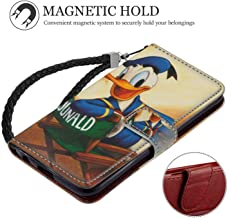 Wallet Case Fit for iPhone 6 Plus (2014) & iPhone 6s Plus (2015) (5.5in) Character Disney Donald Duck