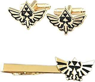 Outlander Legend of Zelda Hyrule Crest Cufflink & Tiebar - New 2018 Superhero Games - Set of 2 Wedding Logo w/Gift Box
