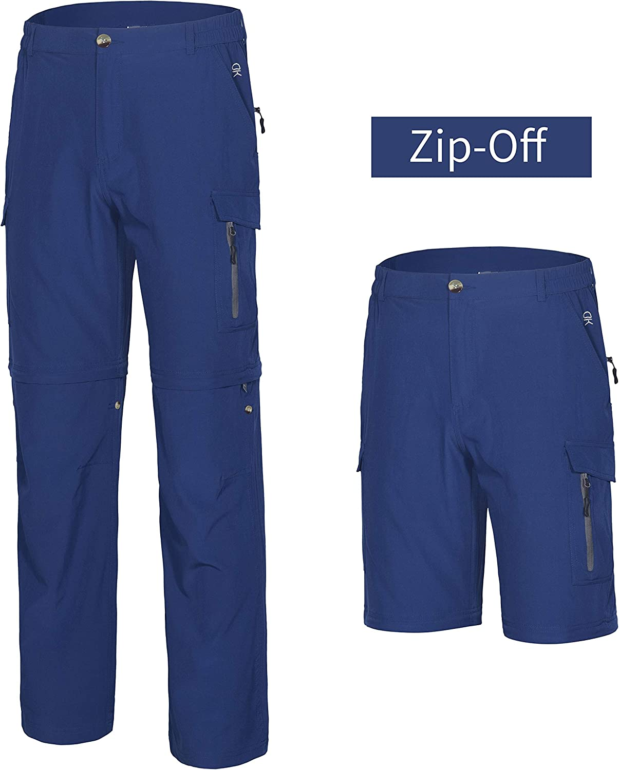 Little Donkey Andy Mens Hiking Convertible Pants Zip-Off Stretch Quick Dry Shorts for Camping,Fishing