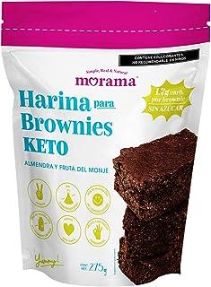 Morama Harina para Brownies KETO hecha con harina de almendra, cacao y endulzada con fruto del monje, sin gluten y conserv...