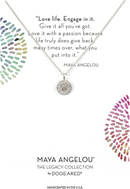 Maya Angelou: Love Life, Engage In It Necklace