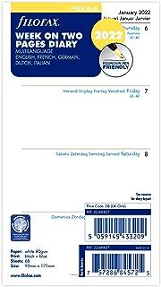 Filofax Agenda settimanale personale su due pagine 5 lingue 2022