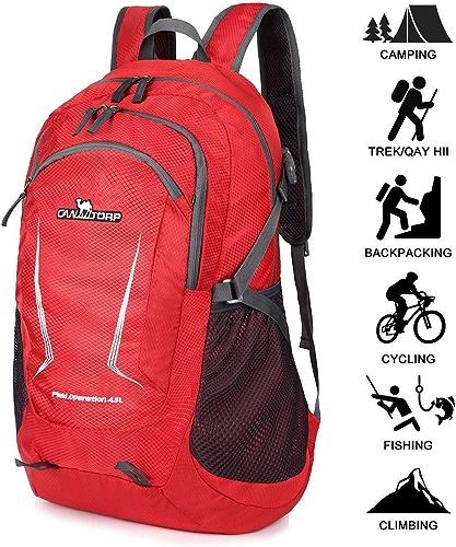 Horizonc 45L Sacs à Dos Randonnée Imperméable Sac à Dos Trekking, Alpinisme Sacs à Dos Sports Et Plein Air pour Voyages Escalade Camping