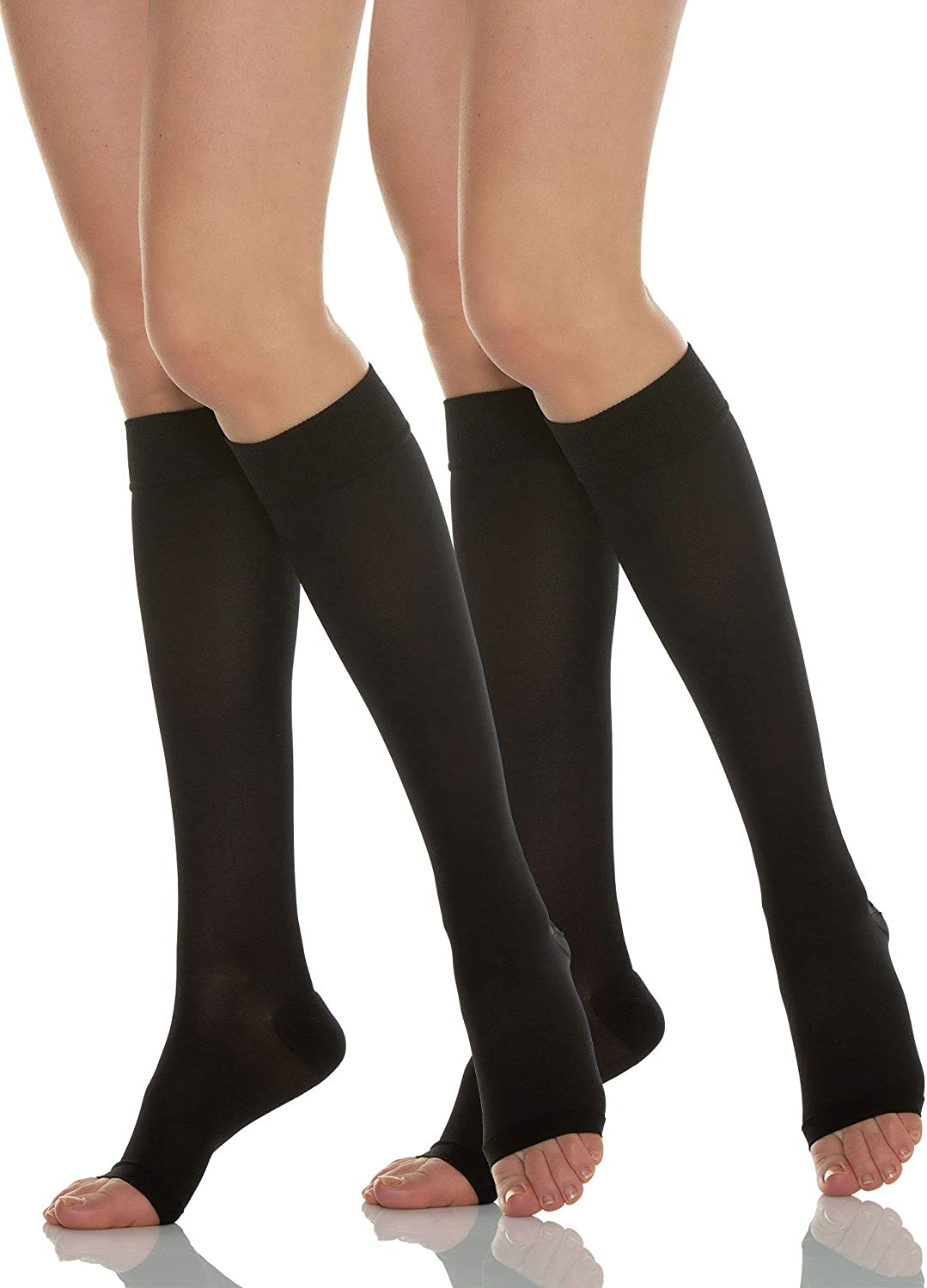 Relaxsan Basic 850A 2 Pairs Black New New Free Shipping products world's highest quality popular Sz.3 - open-toe moderate