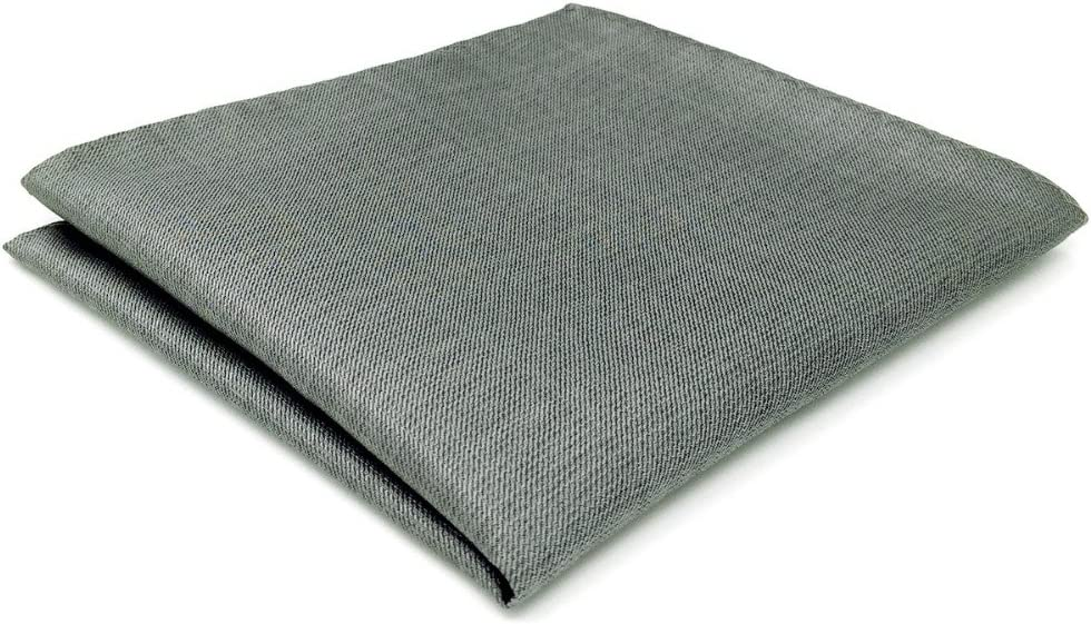 Tomeco CH20 Gray Solid Silk Mens Pocket Square Fashion Wedding Acceossories Hanky Handkerchief
