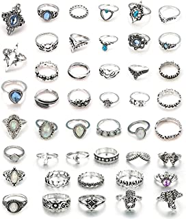 Besteel 44 Pcs Knuckle Rings Set for Women Girls Punk Joint Finger Ring Set Vintage