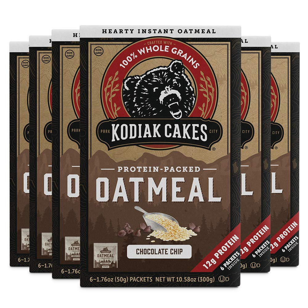 Kodiak Cakes Chocolate Chip Oatmeal Packets (Pack of 6)