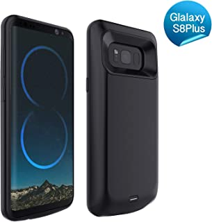 RUXELY Galaxy S8 Plus Battery Case,5500mAh Portable External Backup Charging Case,Rechargeable Protective Power Bank Charger for Samsung Galaxy S8 Plus(Black)(Not for Galaxy S8)