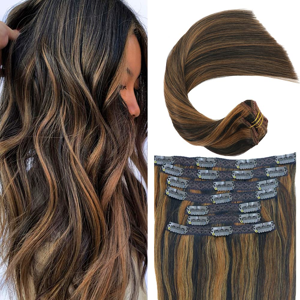 Eufficco Real Human 67% OFF of fixed price Hair Lace Clip Fin Extensions In 18inch mart