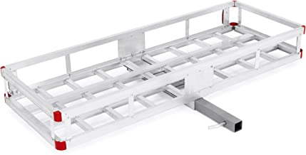 Best Choice Products 60x22in Hitch Mount Aluminum Cargo Luggage Carrier, 500lb Capacity
