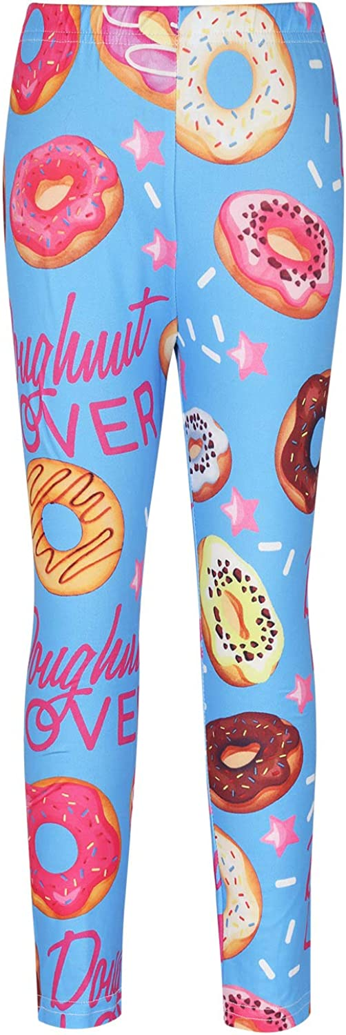 Yeahdor Kids Girls Fashion Active Tights Stretchy Soft Leggings Plain Full Length Pants Trousers Dress Underpants