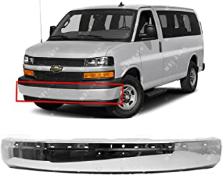 MBI AUTO - Chrome, Steel Front Bumper Face Bar Shell for 2003-2018 Chevy Express & GMC Savana Van 03-17, GM1002459