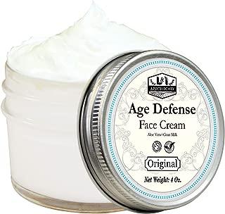 4 Oz. Age Defense Face Cream, With Vitamin C Ester + Aloe Vera + Goat Milk. Natural Facial Moisturizer, Anti-aging Face Moisturizer Cream, Natural Face Cream. pH Balanced Formula