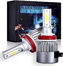 SCITOO H11/H8/H9 Cree Combo Set Upgrade LED Headlight Kit Bulbs, Super Bright 80W, 6500K, 7200LM Dual Beam Head Lamp Bulbs
