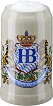 Hofbrauhaus Munich Lion Crest Stoneware German Beer Mug 1L Munchen Oktoberfest