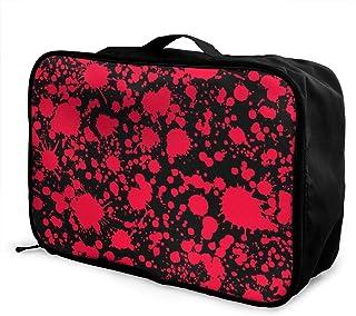 Travel Luggage Duffle Bag Lightweight Portable Handbag Skull Guns Large Capacity Waterproof Foldable Storage Tote