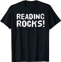 READING ROCKS Shirt Funny Book Reader Library Nerd Gift Idea