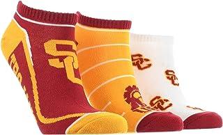 TCK USC Trojans No Show Socks Full Field 3 Pack