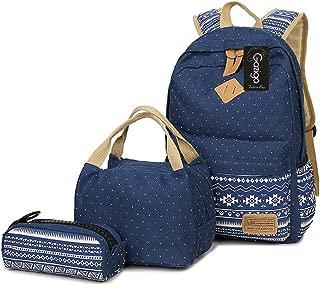 Girls Backpack With Lunch Bag,Gazigo School Backpacks for Teen Girls,3 in 1 Backpack Sets
