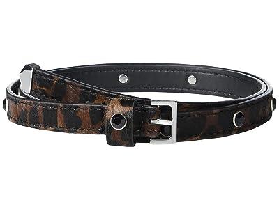 AllSaints 18mm Gemstone Belt with Tip (Leopard) Women
