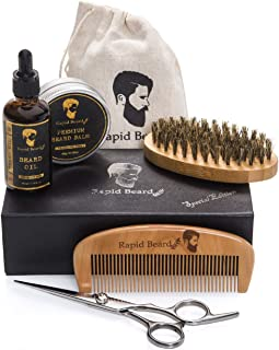 Beard Grooming & Trimming Kit for Men Care – Beard Brush, Beard Comb, Unscented..