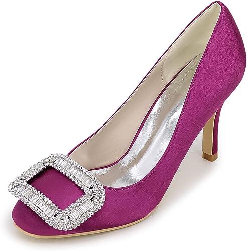 Elegant high chaussures Chenxia Chaussures pour Femmes Stiletto Heel Pointed Toe Pompes Talons Mariage FêTe Et SoiréE Bleu Rouge Blanc Argent Violet, violet, 35